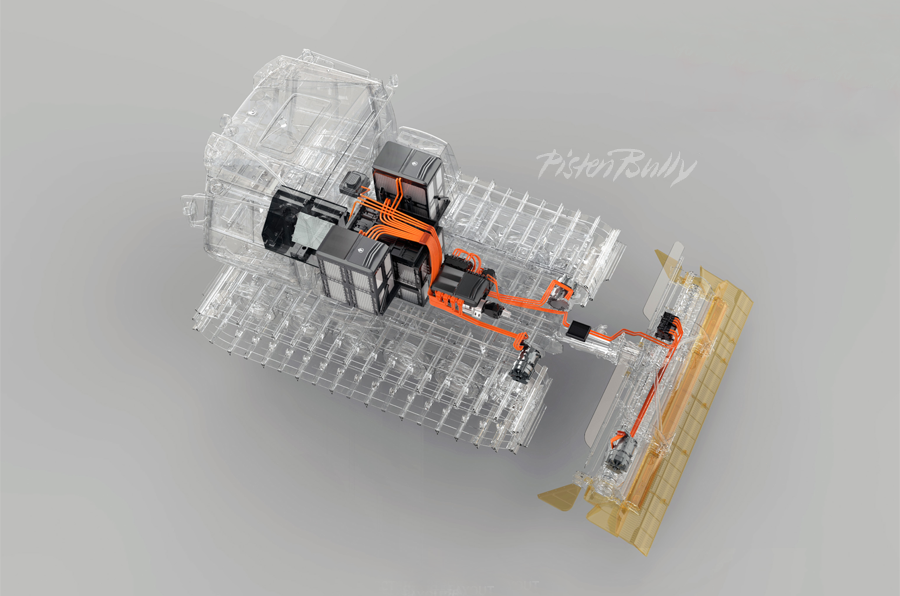 PistenBully 100 (Antriebsstrang Rendering)